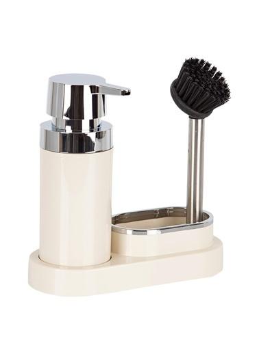 Primanova Primanova Polen Fırçalı Süngerlikli Sıvı Sabunluk Dispenser Bej Bej